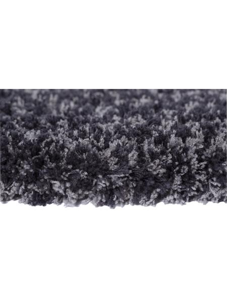 Hochflor-Teppich »Touch«, BxL: 70 x 140 cm, lavagrau