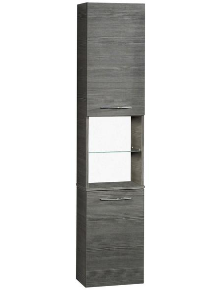 FACKELMANN Hochhängeschrank, B x H x T: 35,5 x 169 x 32 cm, anthrazit