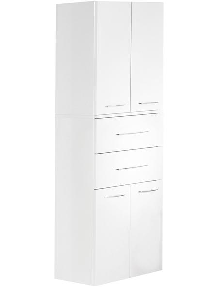 FACKELMANN Hochhängeschrank, B x H x T: 70,5 x 169 x 32 cm, weiß