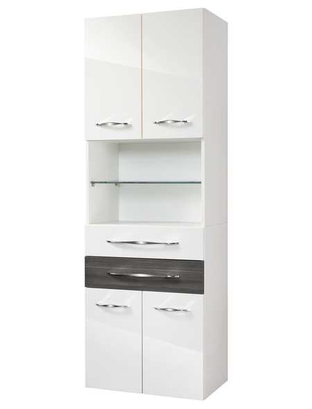 FACKELMANN Hochschrank, BxHxT: 60 x 175,5 x 36,5 cm