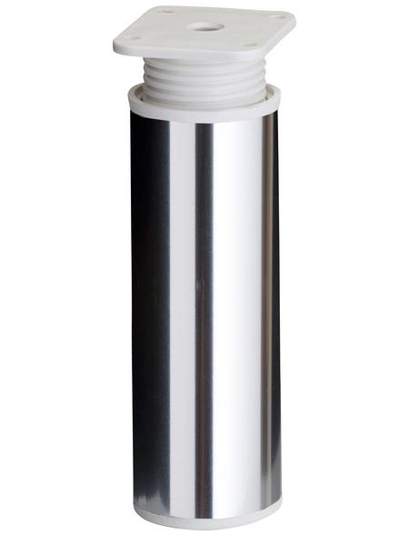 OPTIFIT Höhenverstellfuß »OPTIbasic«, zylinderförmig, chromfarben, Höhe 120mm