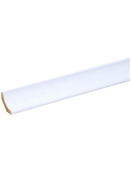 FN NEUHOFER HOLZ Hohlkehlleiste, Holzoptik weiß, MDF, LxHxT: 240 x 2,2 x 2,2 cm