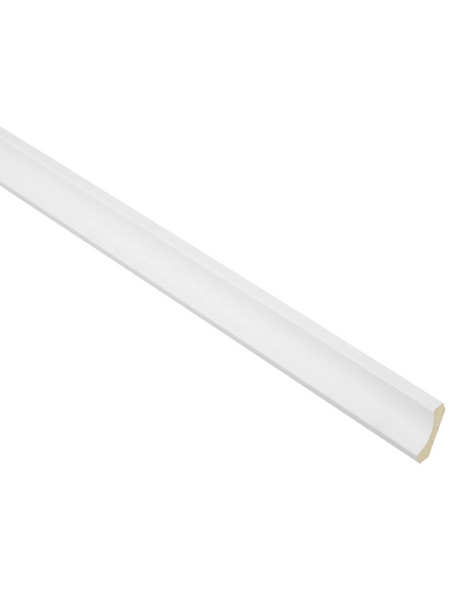 FN NEUHOFER HOLZ Hohlkehlleiste, Uni weiß, MDF, LxHxT: 240 x 2,8 x 2,8 cm