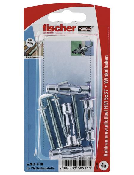 FISCHER Hohlraum-Metalldübel, 4 Stück, 5 x 37 mm