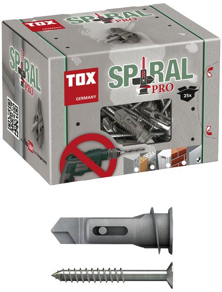 TOX Hohlraumdübel, Zinkdruckguss, 25 Stück, 12 x 39 mm