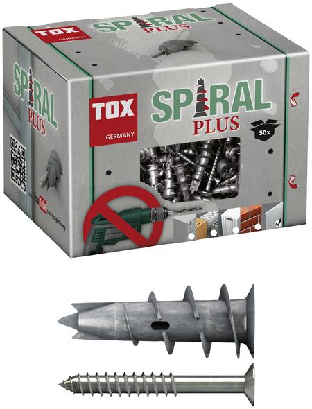 TOX Hohlraumdübel, Zinkdruckguss, 50 Stück, 10 x 32 mm