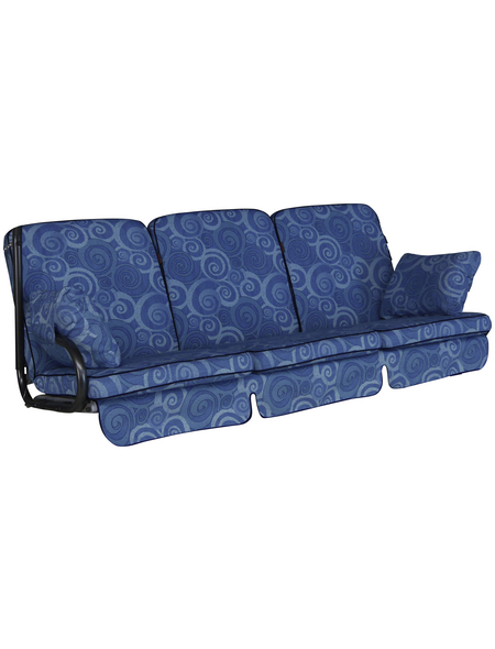 ANGERER FREIZEITMÖBEL Hollywoodschaukelauflage »Comfort«, Abstrakt, blau, 56 cm x 180 cm