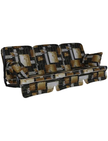 ANGERER FREIZEITMÖBEL Hollywoodschaukelauflage »Comfort«, Abstrakt, braun, 56 cm x 180 cm