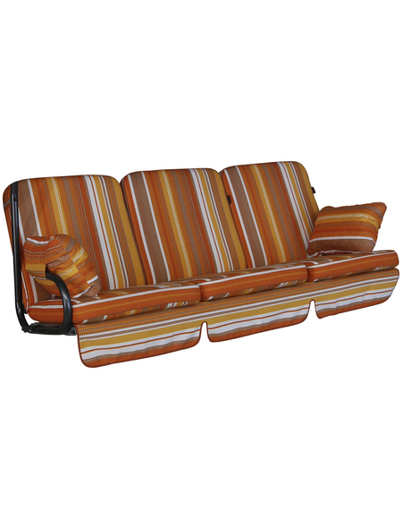 ANGERER FREIZEITMÖBEL Hollywoodschaukelauflage »Comfort«, Streifen, mehrfarbig, 56 cm x 180 cm