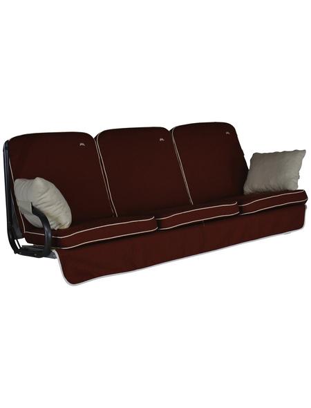 ANGERER FREIZEITMÖBEL Hollywoodschaukelauflage »Comfort Style«, Uni, terracotta, 56 cm x 180 cm