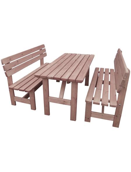 PROMADINO Holz-Garnitur, 6 Sitzplätze, Kiefer
