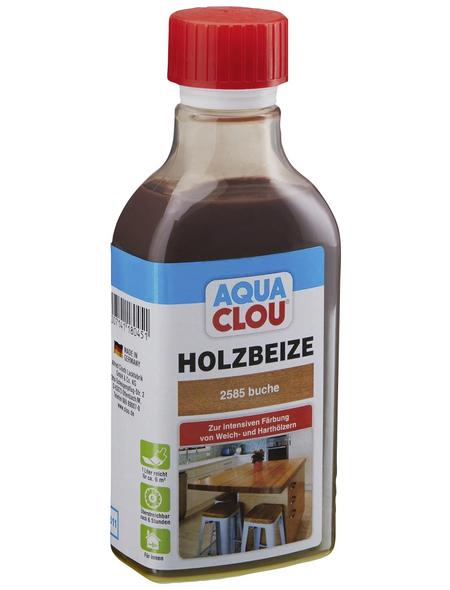CLOU Holzbeize »AQUA«, Gebindegröße: 0,25 l, buche