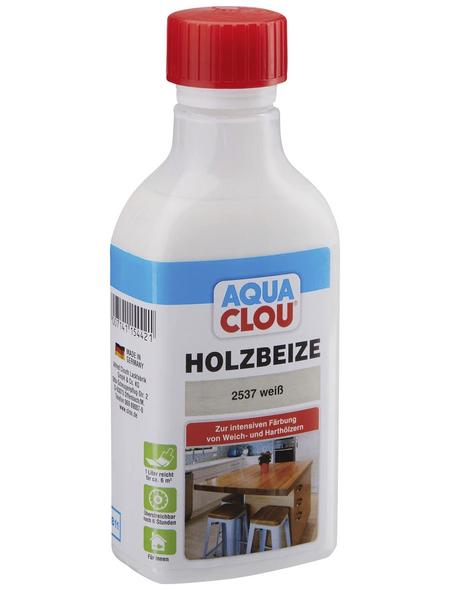CLOU Holzbeize »AQUA«, Gebindegröße: 0,25 l, weiß