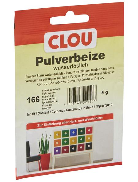 CLOU Holzbeize, Gebindegröße: 0,005 kg, nussbaumfarben