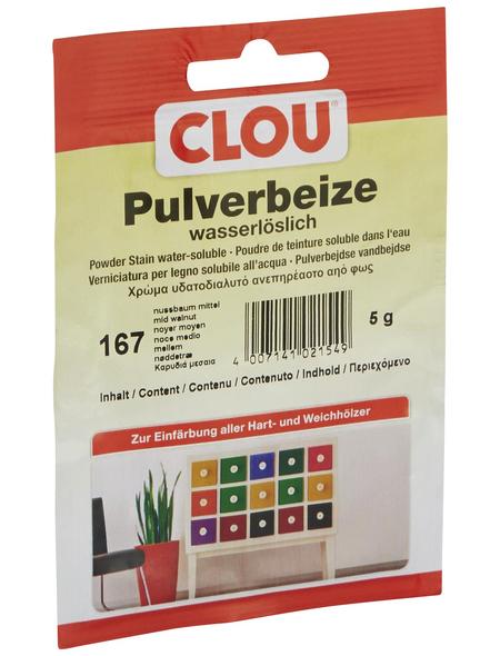 CLOU Holzbeize, Gebindegröße: 0,005 kg, nussbaumfarben-mittel