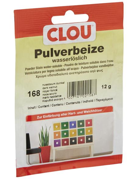 CLOU Holzbeize, Gebindegröße: 0,012 kg, nussbaumfarben-dunkel