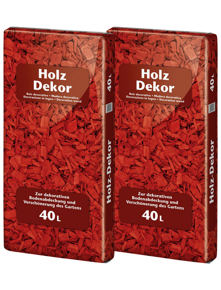FLORAGARD Holzdekor, 2 x 40 l, rot