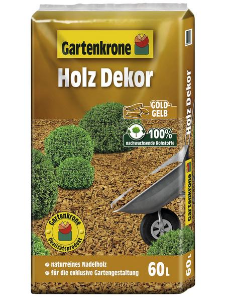 GARTENKRONE Holzdekor, 60 l, gelb
