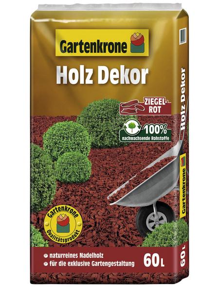GARTENKRONE Holzdekor, 60 l, rot
