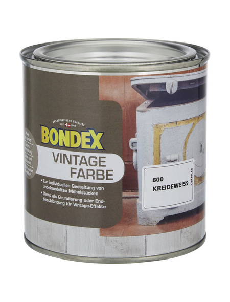 BONDEX Holzfarbe, kreideweiss, matt