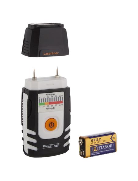 laserliner® Holzfeuchtigkeitsmessgerät »WoodTester«, schwarz/weiss