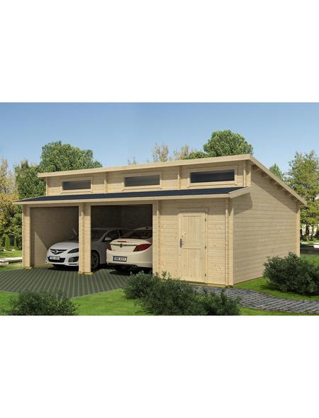 LASITA MAJA Holzgarage »Hawaii«, B x T: 780 x 520 cm (Außenmaße ohne Dachüberstand)
