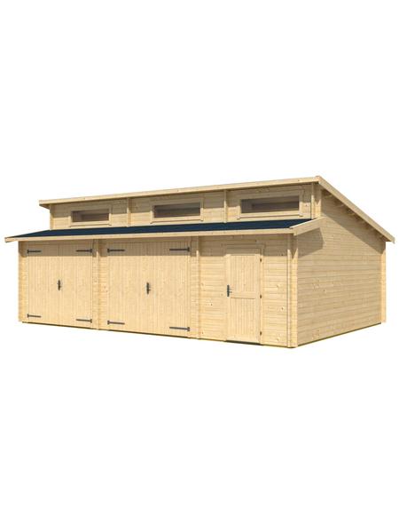 LASITA MAJA Holzgarage »Hawaii«, BxT: 780cm x 580cm (Außenmaße ohne Dachüberstand)