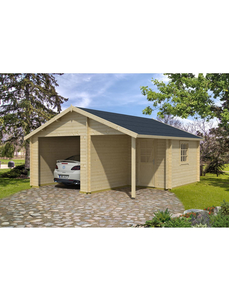 LASITA MAJA Holzgarage »Nevis«, BxT: 500cm x 590cm (Außenmaße ohne Dachüberstand)