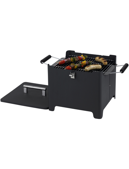 TEPRO Holzkohlegrill »Chill & Camp Grill Cube«, Grillfläche 31,5 x 31,5 cm, mit Deckel