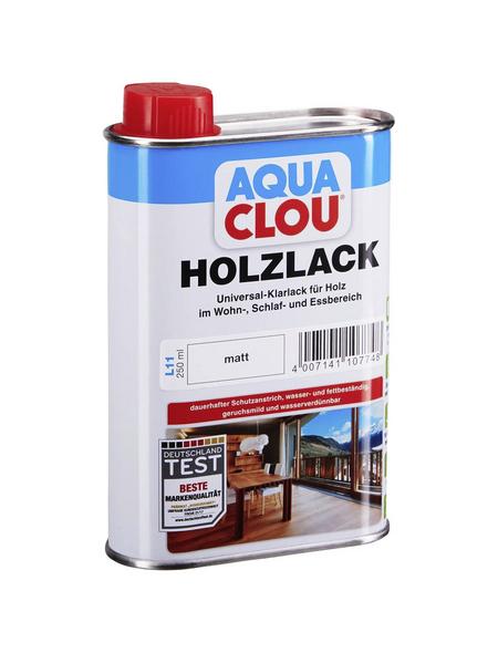 CLOU Holzlack »AQUA«, für innen, 0,25 l, farblos, matt