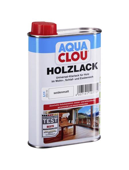 CLOU Holzlack »AQUA«, für innen, 0,25 l, farblos, seidenmatt