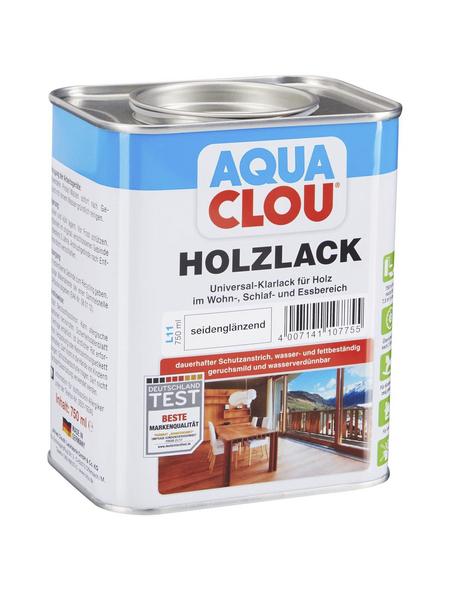 CLOU Holzlack »AQUA«, für innen, 0,75 l, farblos, seidenglänzend