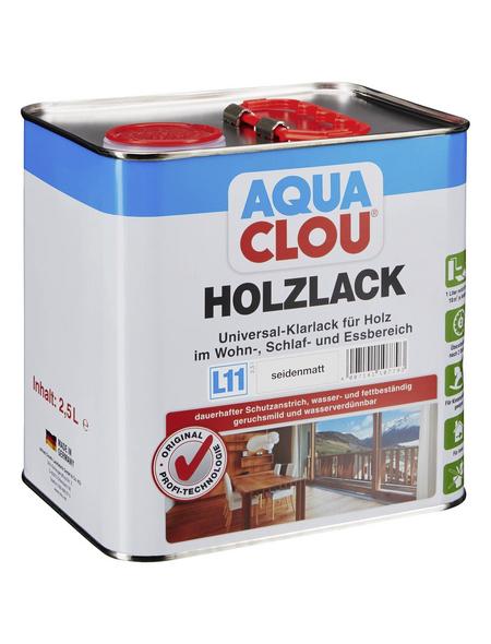 CLOU Holzlack »AQUA«, für innen, 2,5 l, farblos, seidenmatt