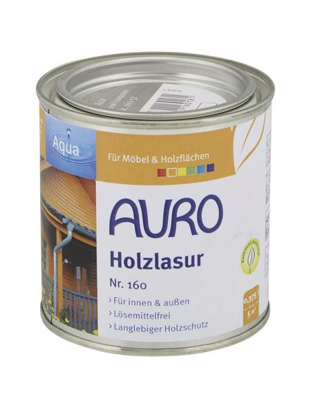 AURO Holzlasur »Aqua«, für innen & außen, 0,375 l, Azur, seidenglänzend