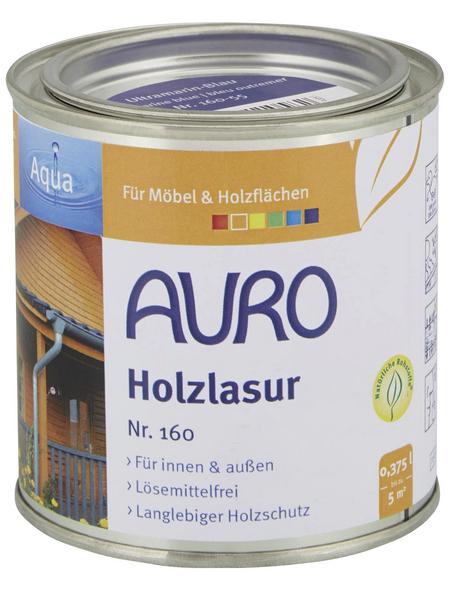 AURO Holzlasur »Aqua«, für innen & außen, 0,375 l, Blau, seidenglänzend