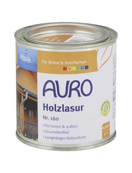 AURO Holzlasur »Aqua«, für innen & außen, 0,375 l, braun, untergrundabhängig