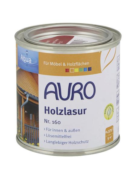 AURO Holzlasur »Aqua«, für innen & außen, 0,375 l, Dunkelrot, seidenglänzend