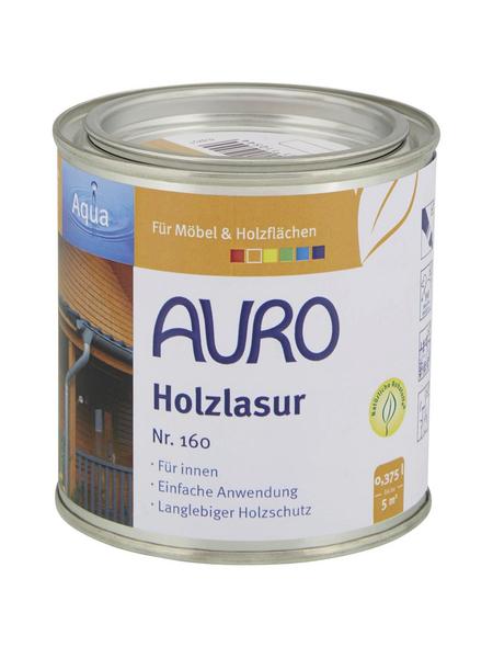 AURO Holzlasur »Aqua«, für innen & außen, 0,375 l, farblos, seidenglänzend