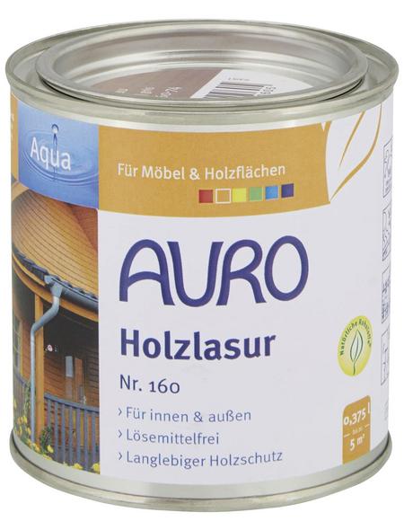 AURO Holzlasur »Aqua«, für innen & außen, 0,375 l, grau, seidenglänzend