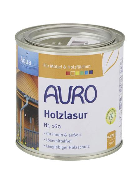AURO Holzlasur »Aqua«, für innen & außen, 0,375 l, Grün, seidenglänzend