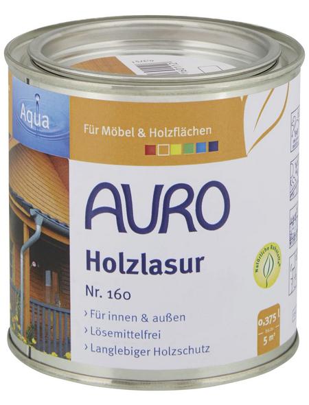 AURO Holzlasur »Aqua«, für innen & außen, 0,375 l, Kiefer, untergrundabhängig