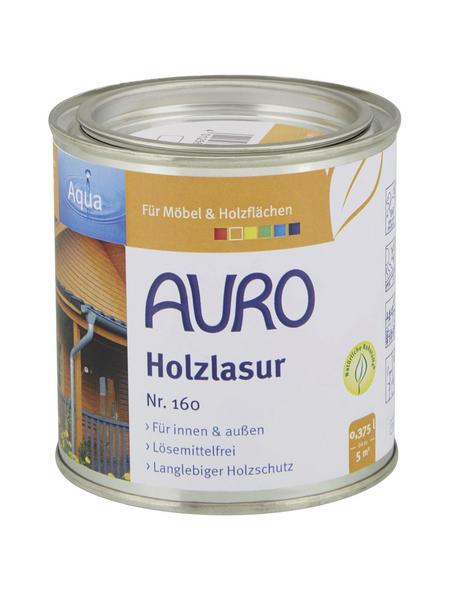AURO Holzlasur »Aqua«, für innen & außen, 0,375 l, Ockergelb, seidenglänzend