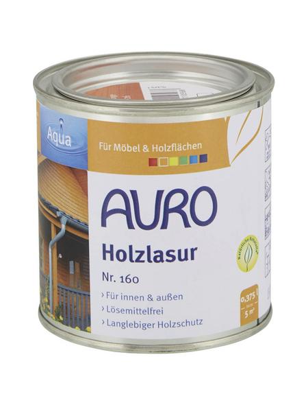 AURO Holzlasur »Aqua«, für innen & außen, 0,375 l, Orange, seidenglänzend