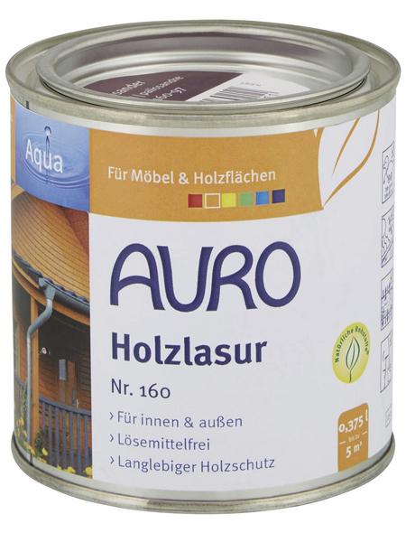 AURO Holzlasur »Aqua«, für innen & außen, 0,375 l, Palisander, untergrundabhängig
