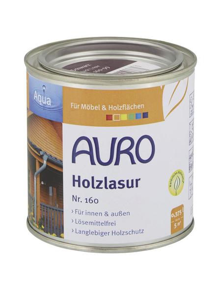 AURO Holzlasur »Aqua«, für innen & außen, 0,375 l, Schwarz, seidenglänzend