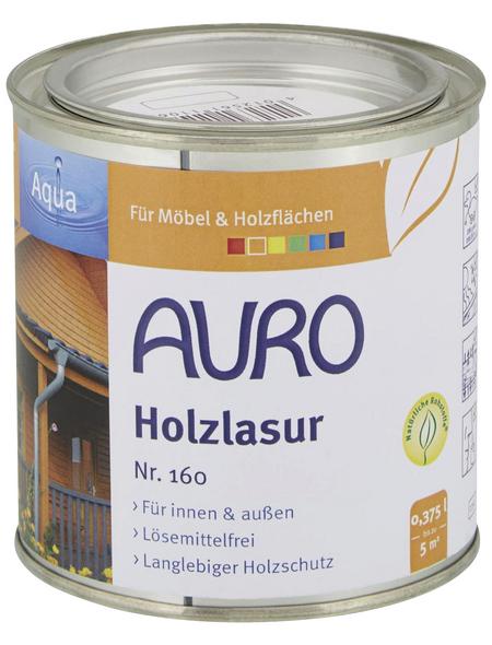 AURO Holzlasur »Aqua«, für innen & außen, 0,375 l, weiß, untergrundabhängig