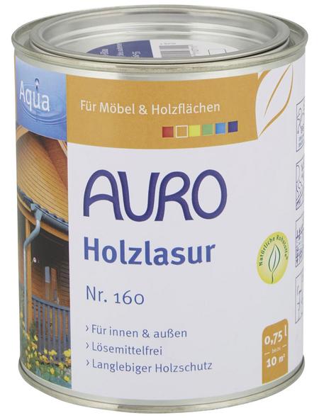 AURO Holzlasur »Aqua«, für innen & außen, 0,75 l, Blau, seidenglänzend
