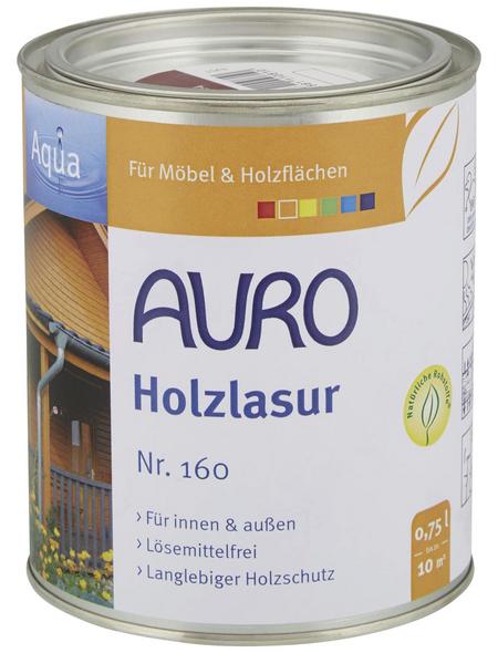 AURO Holzlasur »Aqua«, für innen & außen, 0,75 l, braun, untergrundabhängig