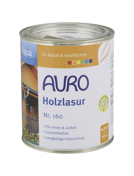 AURO Holzlasur »Aqua«, für innen & außen, 0,75 l, Grün, seidenglänzend