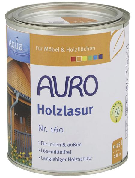 AURO Holzlasur »Aqua«, für innen & außen, 0,75 l, Kiefer, untergrundabhängig